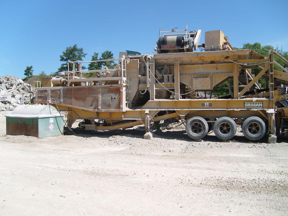 Grasan/Hazemag 1013 AHHP Portable Primary Impactor Plant - Before