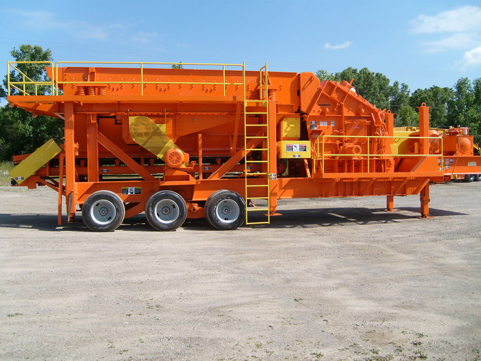 Grasan/Hazemag 1320 Portable Crushing and Screening Plant - After