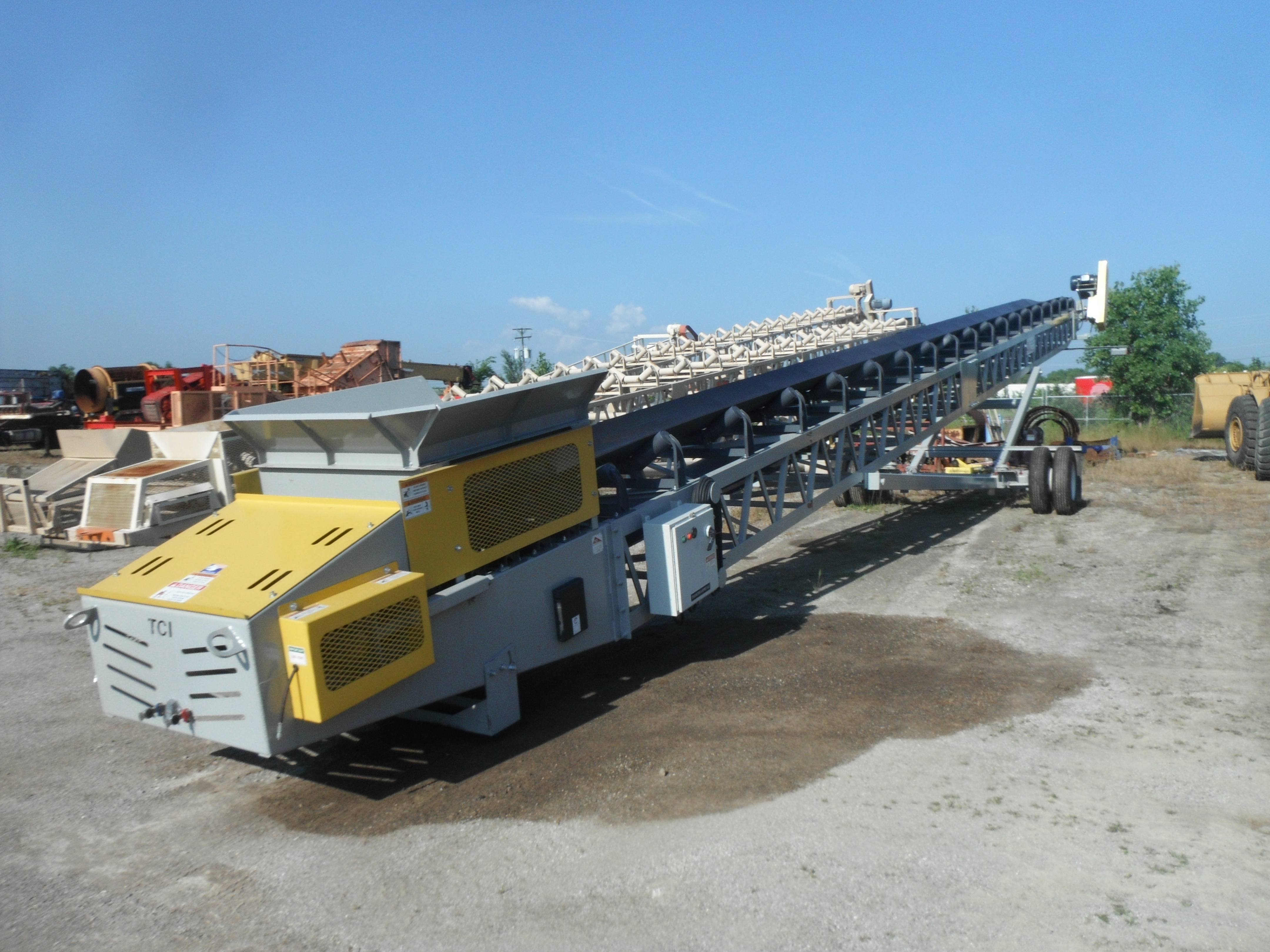 NEW TCI 36'' x 80' Portable Conveyor - HiPoint Aggregate Equipment LLC