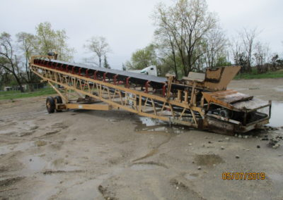 "Grasan 48""x65' portable feed conveyor"