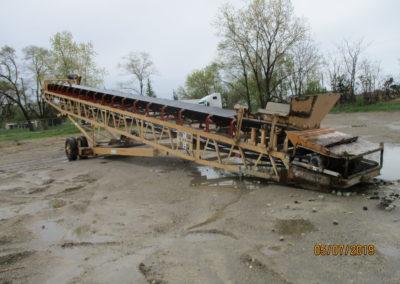 """Grasan 48""""x65' portable feed conveyor"""