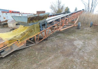 "24"" x 60' Grasan pit-portable radial stacker"